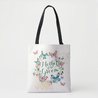 Mother of the Groom Butterfly Wreath Tote Bag