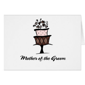 Mother of the Groom Cake Card