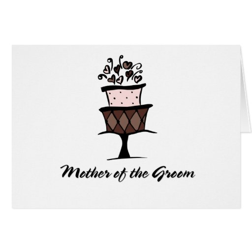 Mother of the Groom Cake Cards