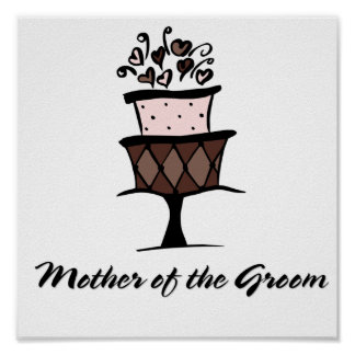 Mother of the Groom Cake Print