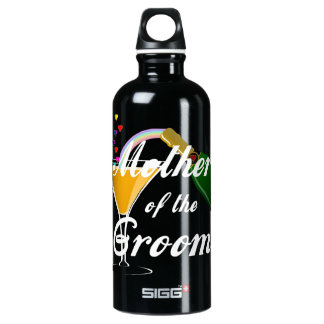 Mother of the Groom Champagne Toast Aluminum Water Bottle