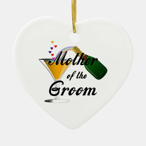 Mother Of The Groom Champagne Toast Ceramic Ornament