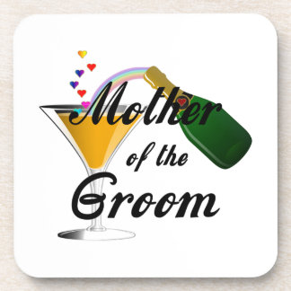 Mother of the Groom Champagne Toast Beverage Coasters