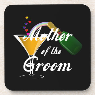 Mother of the Groom Champagne Toast Drink Coaster