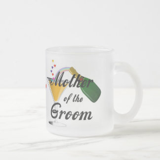 Mother of the Groom Champagne Toast Frosted Glass Coffee Mug