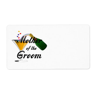 Mother of the Groom Champagne Toast Shipping Label
