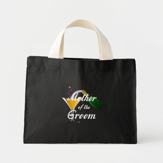Mother of the Groom Champagne Toast Mini Tote Bag