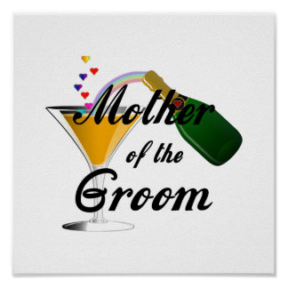 Mother of the Groom Champagne Toast Poster