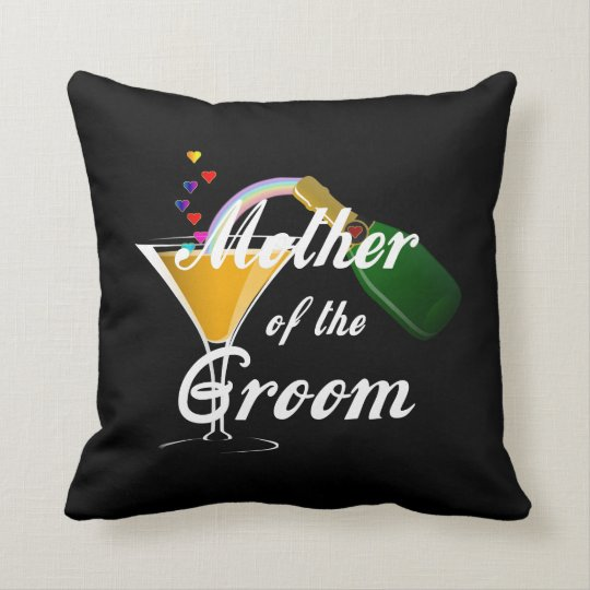 Mother of the Groom Champagne Toast Throw Pillow