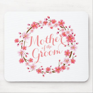 Mother of the Groom Cherry Blossom Wedding Mousepa Mouse Pad