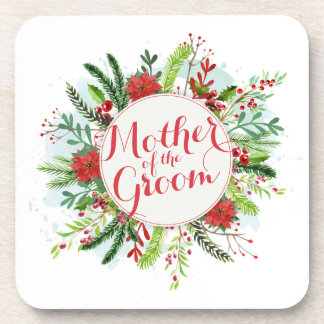 Mother of the Groom Christmas Wedding   Coaster