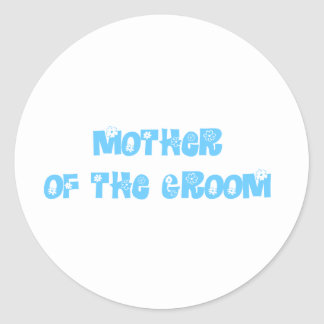 Mother of the Groom Classic Round Sticker
