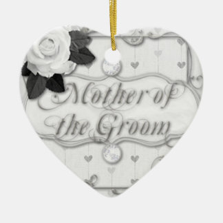 mother of the groom Double-Sided heart ceramic christmas ornament