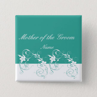 Mother of the Groom Elegant wedding Button