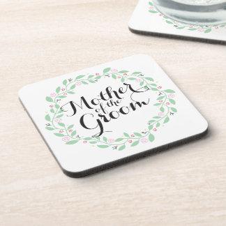 Mother of the Groom Elegant Wreath Wedding Coaster