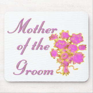 Mother Of The Groom Gold & Bouquet Mouse Pad