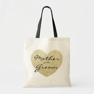 Mother of the Groom Golden heart Customize Tote Bag