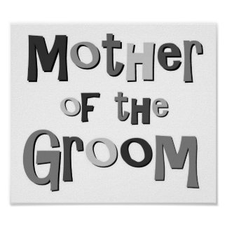 Mother of the Groom Gray Print