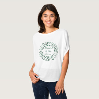 Mother of the Groom | Green Leaves Wreath T-shirt