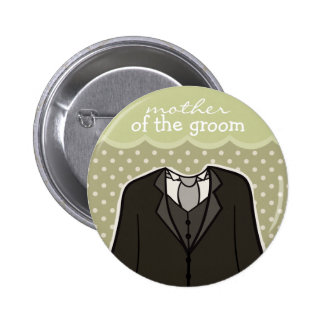 Mother of the Groom // GREEN Pinback Button