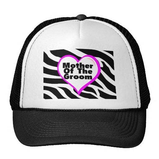 Mother Of The Groom (Heart Zebra Stripes) Trucker Hat