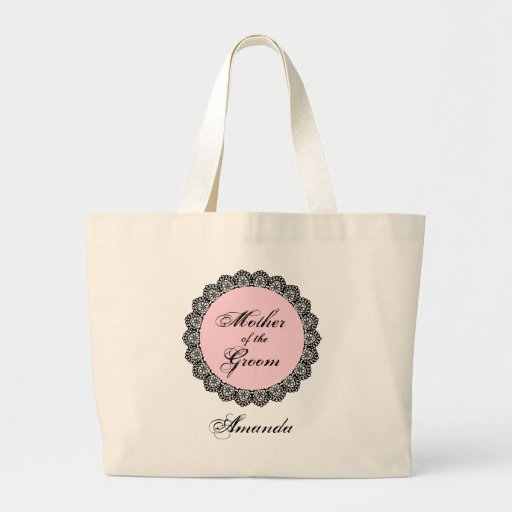 Mother of the GROOM Lace Custom Name V02 Bag