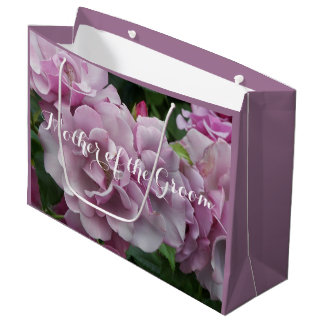 Mother of the Groom Lavender Roses Large Gift Bag