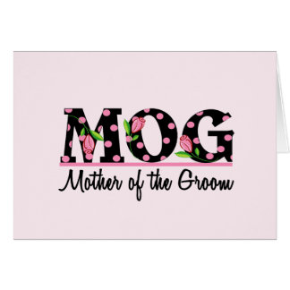 Mother of the Groom MOG Tulip Lettering Greeting Cards