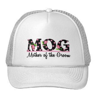 Mother of the Groom MOG Tulip Lettering Hats