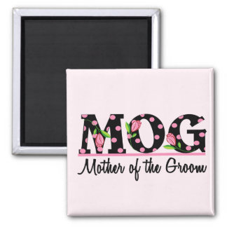 Mother of the Groom (MOG) Tulip Lettering Magnet