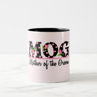 Mother of the Groom (MOG) Tulip Lettering Mugs