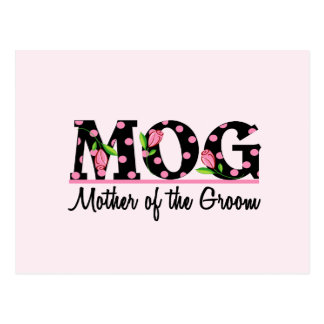 Mother of the Groom (MOG) Tulip Lettering Postcard