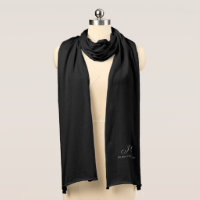 Mother of the Groom Monogram Knit Scarf