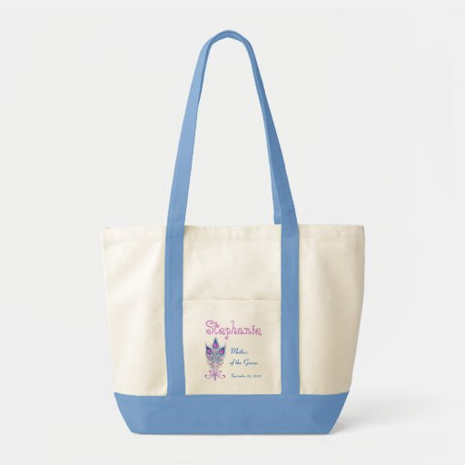 Mother of the Groom or Any Wedding Role Peacock V2 Impulse Tote Bag