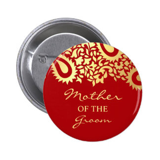Mother of the Groom Paisleys Wedding Button