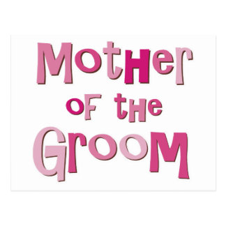 Mother of the Groom Pink Brown Postcard