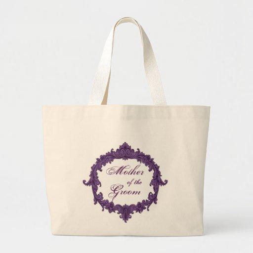 Mother of the Groom PURPLE Vintage Frame Bags