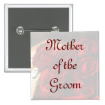 Mother Of the Groom - Red Rose Bouquet (1) 2 Inch Square Button