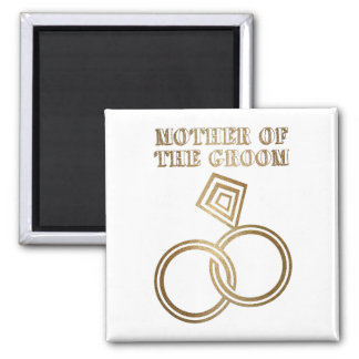Mother Of The Groom Romantic Gold Rings Wedding Magnet