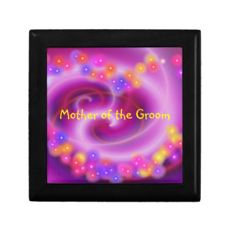 Mother of the Groom Swirly Heart Gift Box