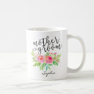 Mother of the Groom|Watercolor Floral Personalized Coffee Mug