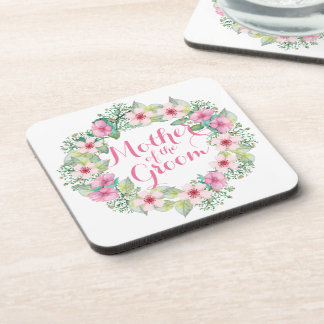 Mother of the Groom Watercolor Wedding   Coaster