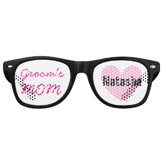 Mother of the GROOM Wedding Favor Black Pink A05 Retro Sunglasses