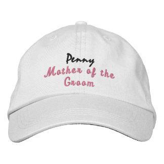 Mother of the Groom Wedding Hat Custom Name Baseball Cap