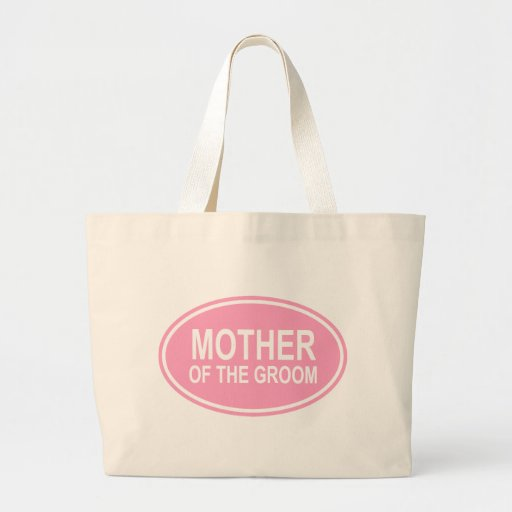 Mother of the Groom Wedding Oval Pink Tote Bag