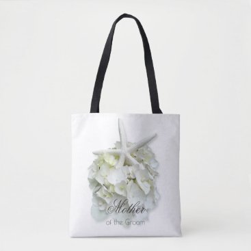 Beach Themed Mother of the Groom White Floral Starfish Bag