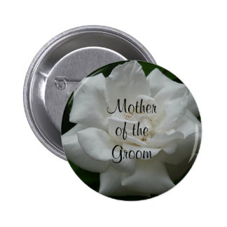 Mother of the Groom, White Rose Pin