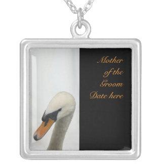 Mother of the Groom White Swan Wedding Pendants
