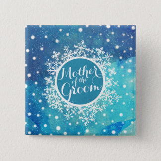 Mother of the Groom Winter Wedding Pin Button