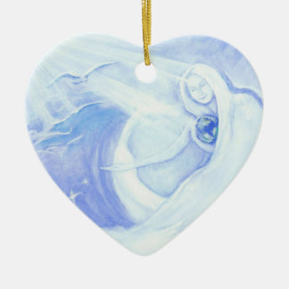 Mother of the World Heart Christmas Ornament